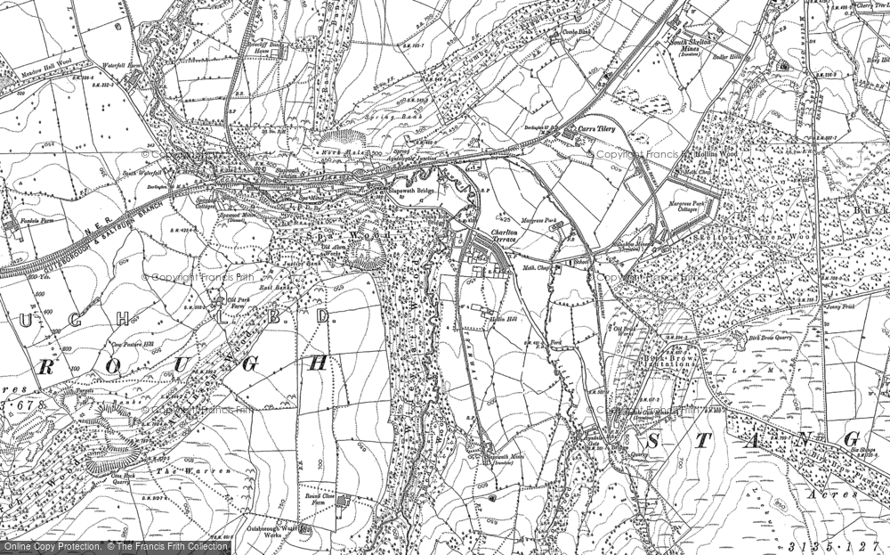 Old Map of Historic Map covering Westworth Wood in 1893
