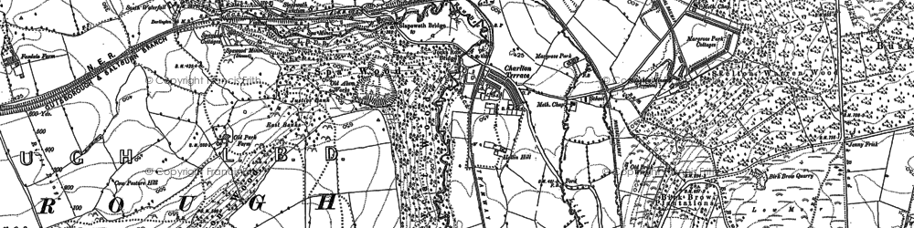 Old map of Westworth Wood in 1893