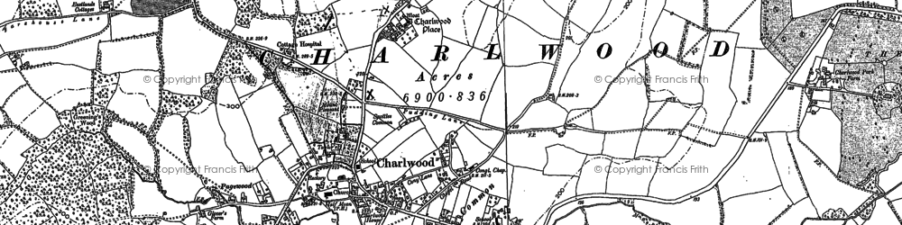 Old map of Russ Hill in 1912