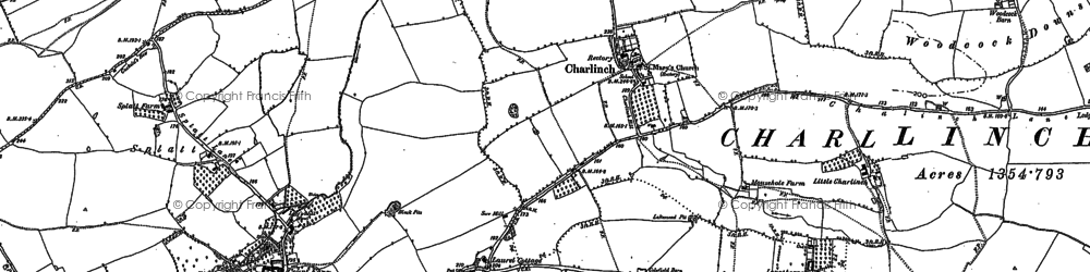 Old map of Ashford Resr in 1886