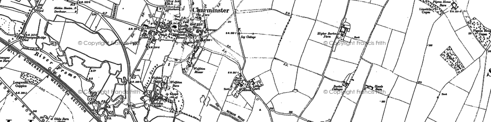 Old map of Wolfeton Ho in 1886