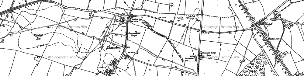 Old map of Charndon in 1898