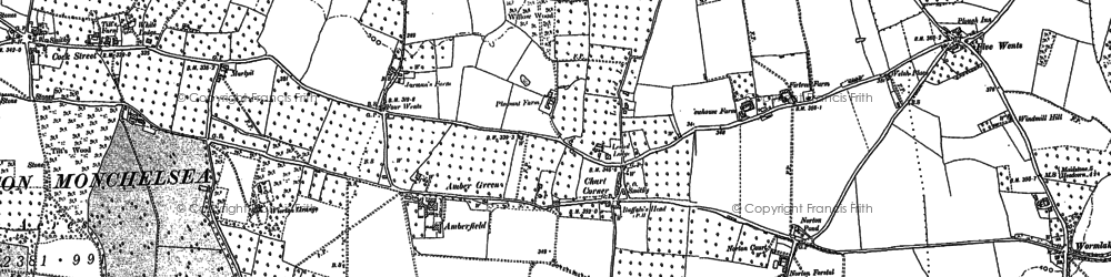Old map of Wierton in 1896