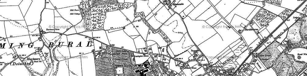 Old map of Binscombe in 1895