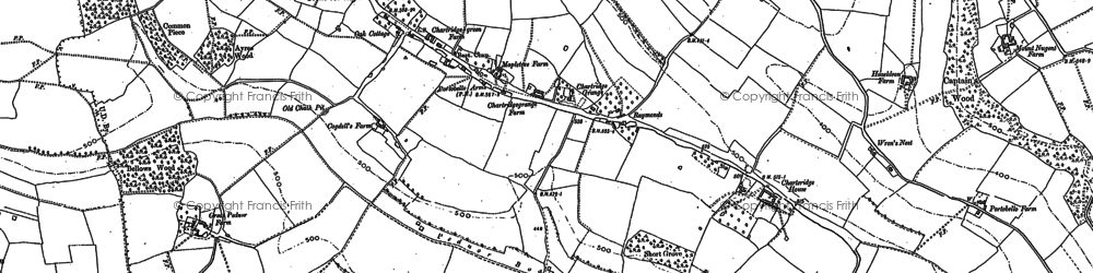 Old map of Chartridge in 1897