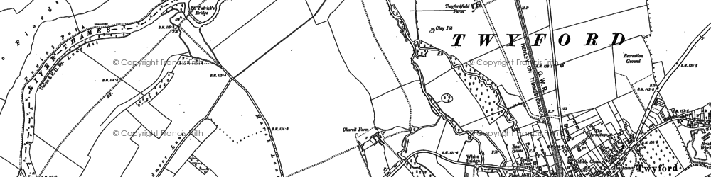 Old map of Charvil in 1910