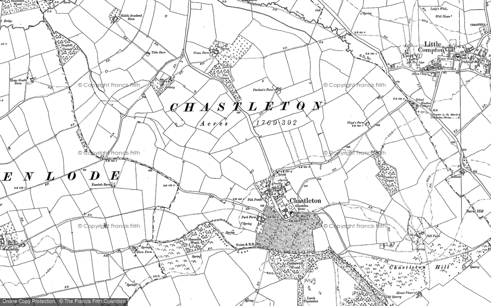 Old Map of Chastleton, 1898 in 1898