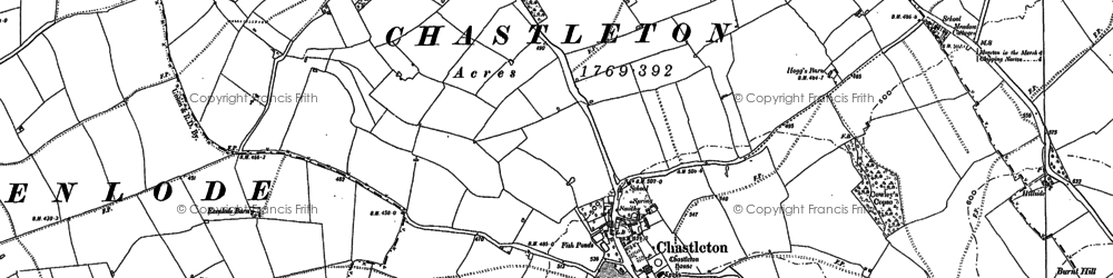 Old map of Chastleton in 1898