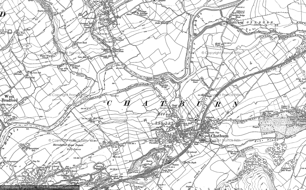 Old Map of Chatburn, 1910 - 1930 in 1910