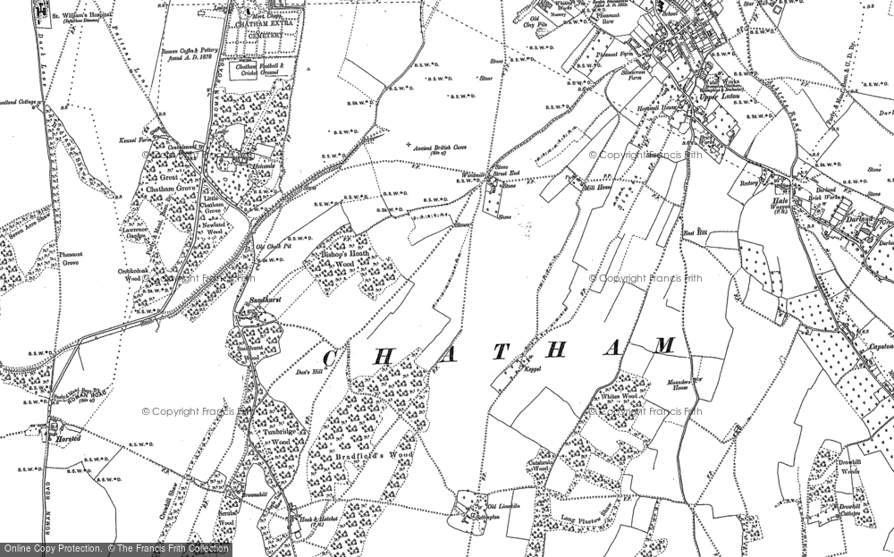 Map of Chatham, 1895 - 1896