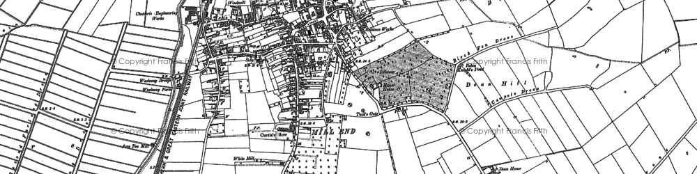 Old map of Acre Fen in 1886