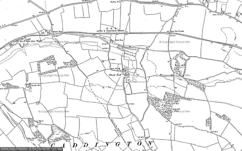 Old Map of Chaul End, 1881 - 1900 in 1881