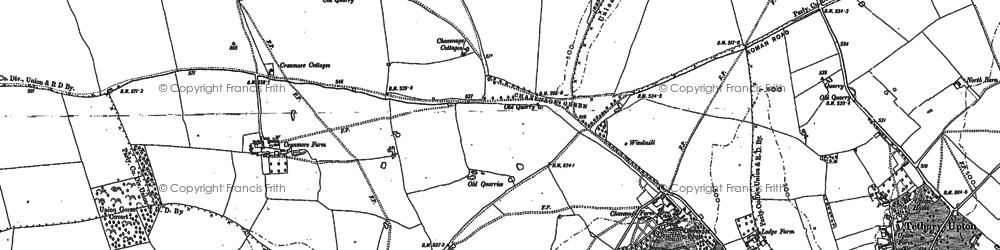 Old map of Ledgemore Bottom in 1881