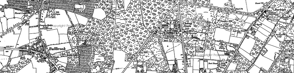 Old map of Chavey Down in 1898