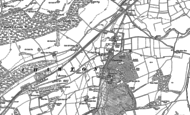 Old Map of Chawton, 1895