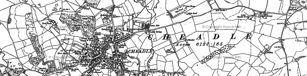 Old map of Lightwood in 1879