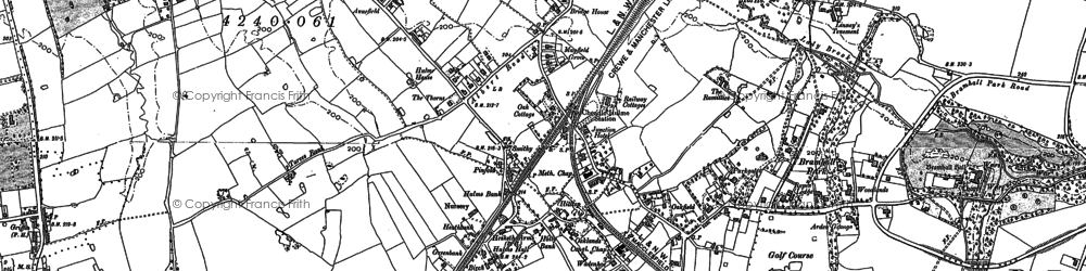 Old map of Cheadle Hulme in 1897