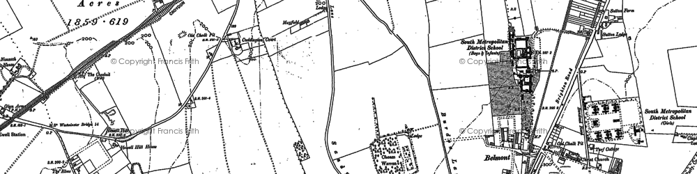 Old map of East Ewell in 1894