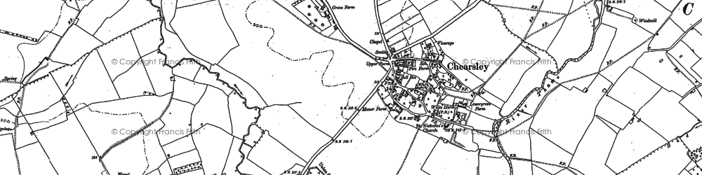 Old map of Chearsley in 1919