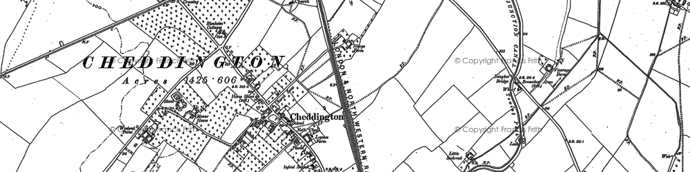 Old map of Westend Hill in 1898