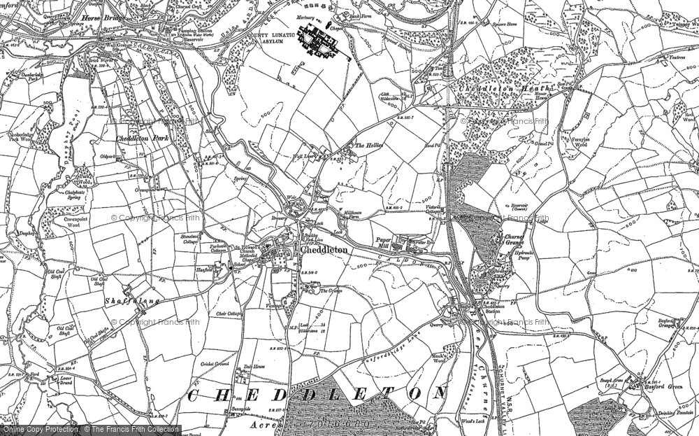 Old Map of Cheddleton, 1879 in 1879