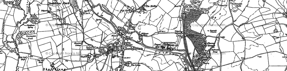 Old map of Ashcombe Park in 1879