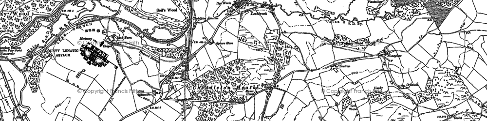 Old map of Leekbrook in 1879