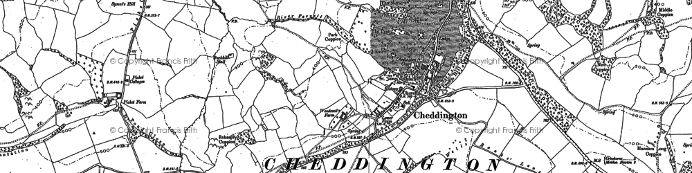 Old map of Weston in 1886