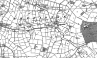 Old Map of Chediston, 1883