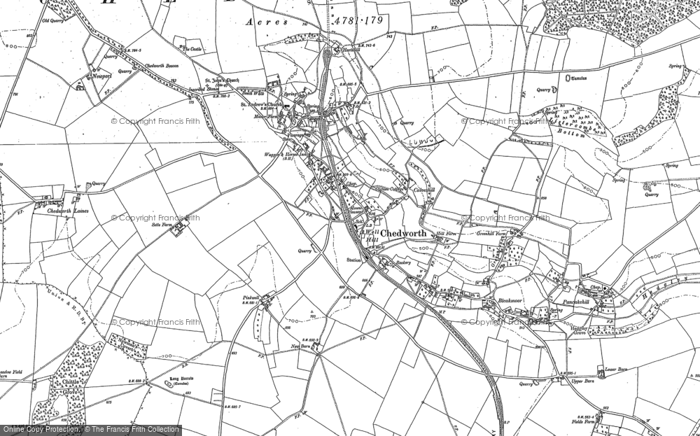 Old Map of Chedworth, 1882 - 1883 in 1882