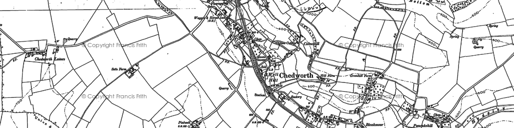 Old map of White Way in 1882