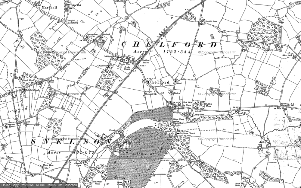 Old Map of Historic Map covering Astle in 1897