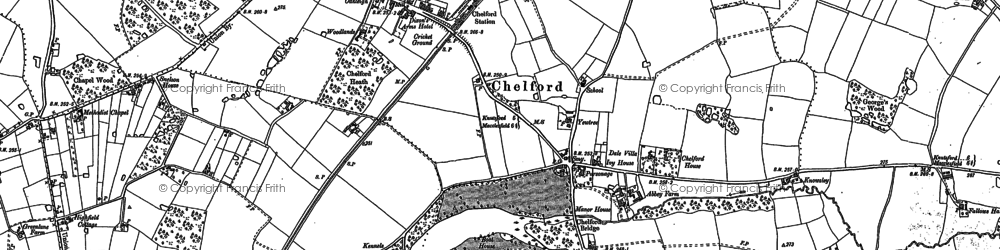Old map of Withington Hall in 1897