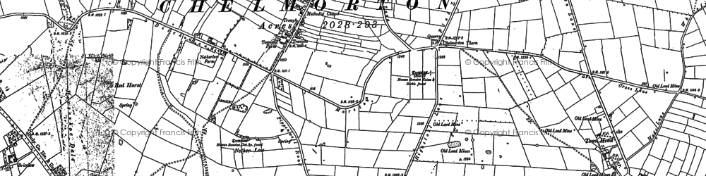 Old map of Chelmorton in 1897