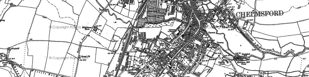 Old map of Chelmsford in 1895