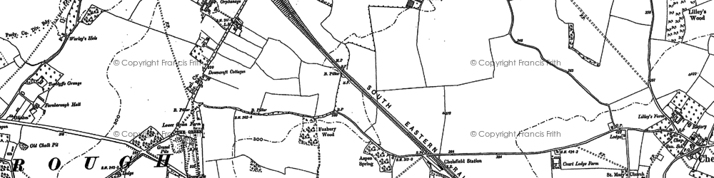 Old map of Chelsfield in 1895