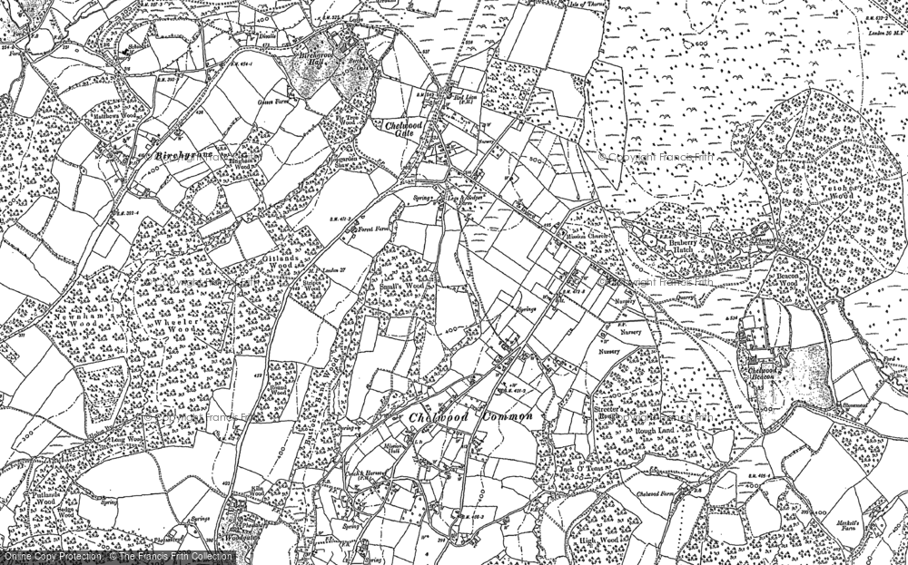 Map of Chelwood Gate, 1897 - 1898
