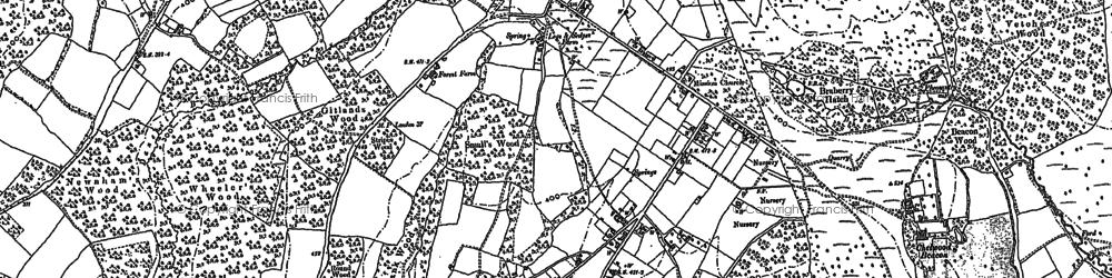 Old map of Chelwood Gate in 1897