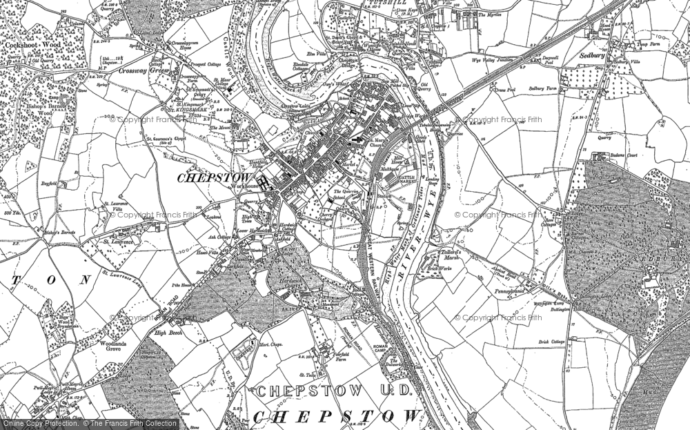 Map of Chepstow, 1900