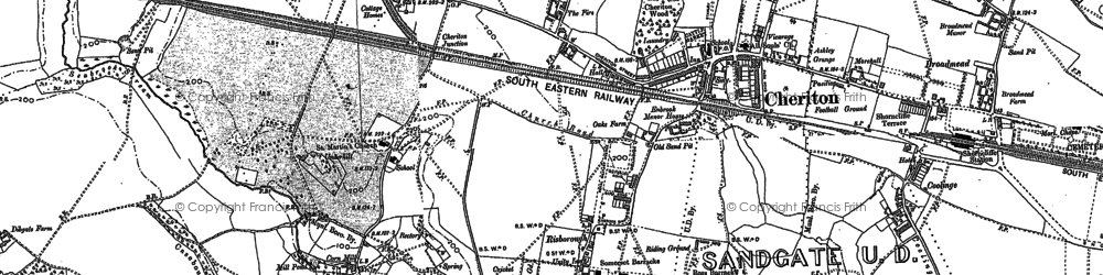 Old map of Cheriton in 1906