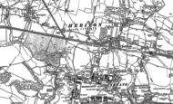 Old Map of Cheriton, 1906