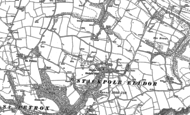 Old Map of Cheriton, 1948
