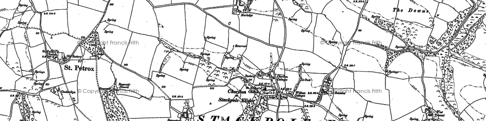 Old map of Cheriton in 1948