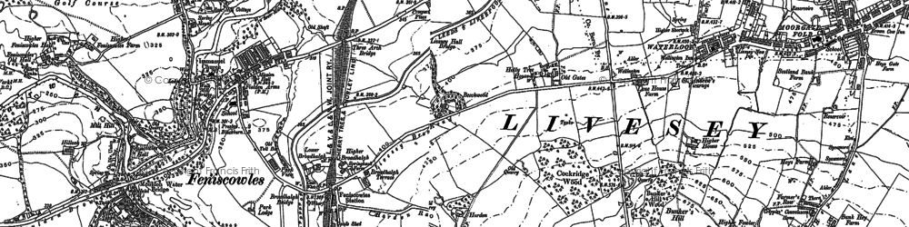 Old map of Cherry Tree in 1892