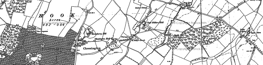 Old map of Chessington in 1894