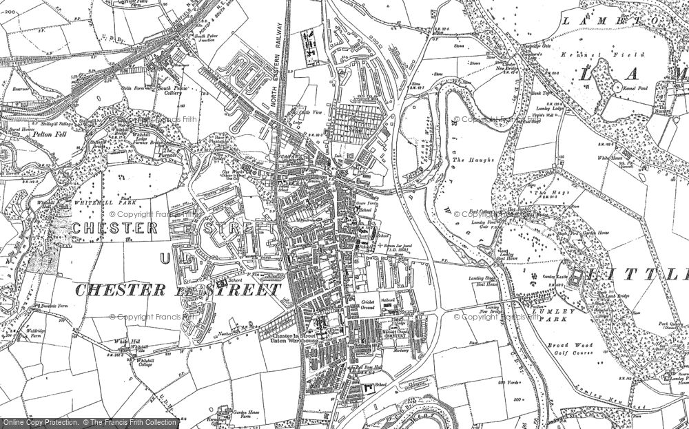 Map of Chester-Le-Street, 1895