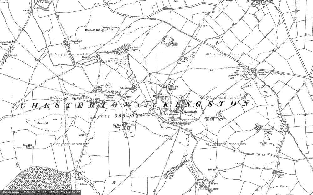Old Map of Chesterton, 1885 in 1885