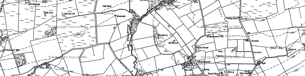 Old map of Westley Bank in 1895