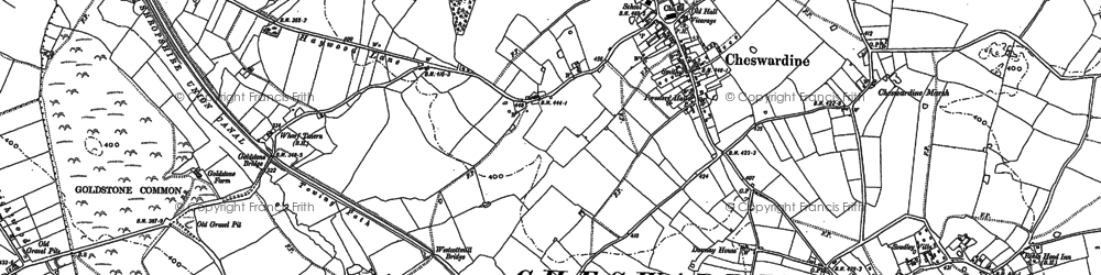 Old map of Cheswardine in 1880