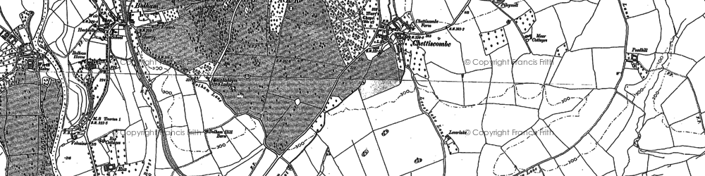 Old map of Chettiscombe in 1887